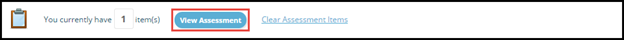 View Assessment button highligted